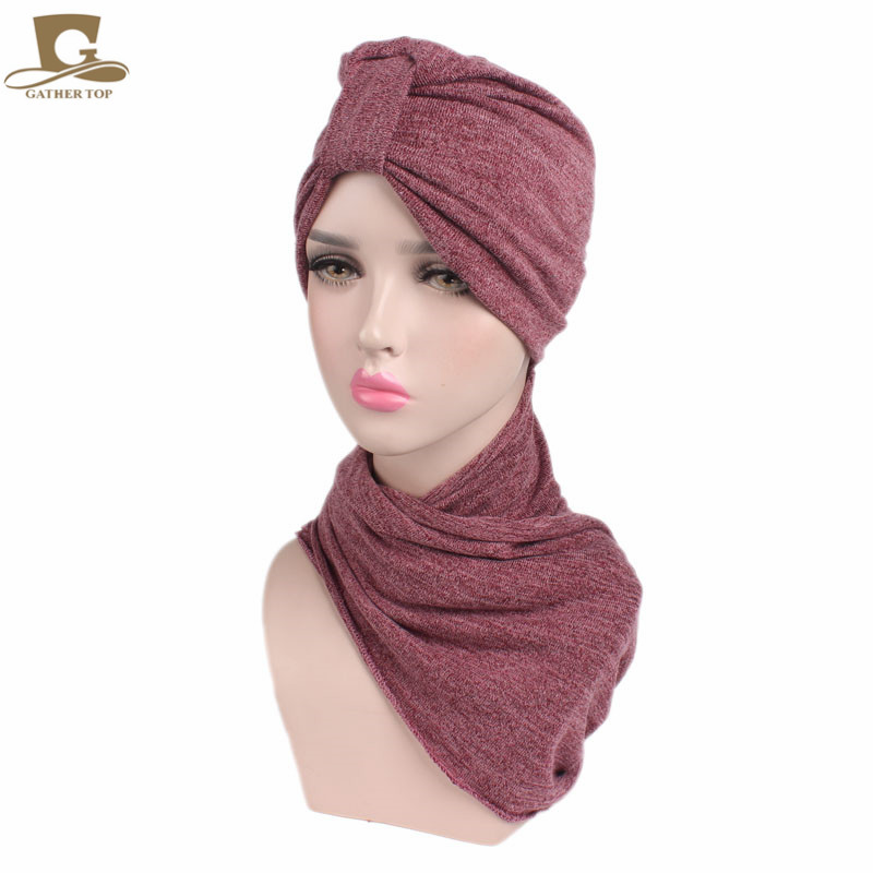 New luxury Women Multi Function Hijab Turban with scarf Head Wrap Extra Long Cotton Tube Headwrap Scarf Tie american flags pattern extra long scarf with tassels