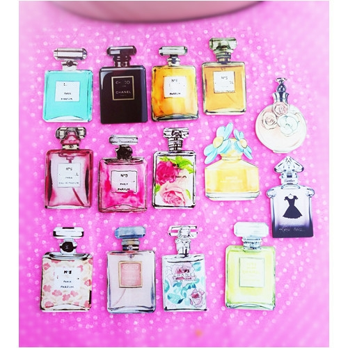 10pcs per lot acrylic perfume patches diy dec -in Charms from ... 618c22bd99b5