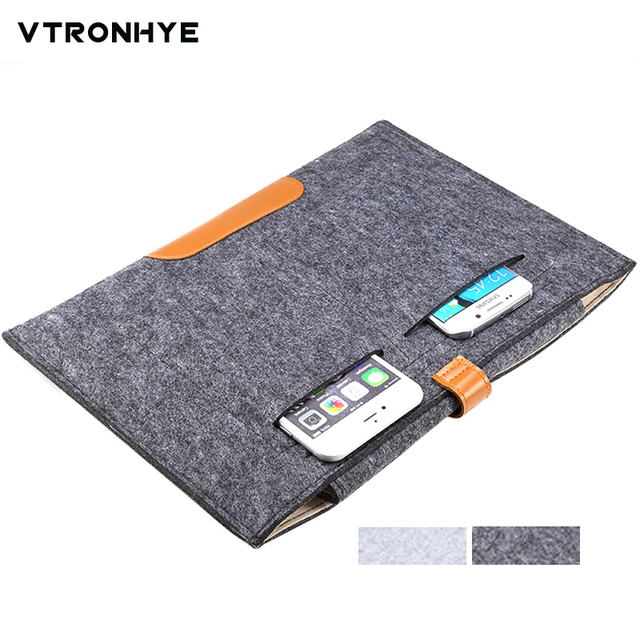 11 13 14 15.6 17.3 inch Wool Felt Hand Hold Notebook Laptop Sleeve Bag Case Carrying Handle Cover for Macbook/Asus/Lenovo/HP