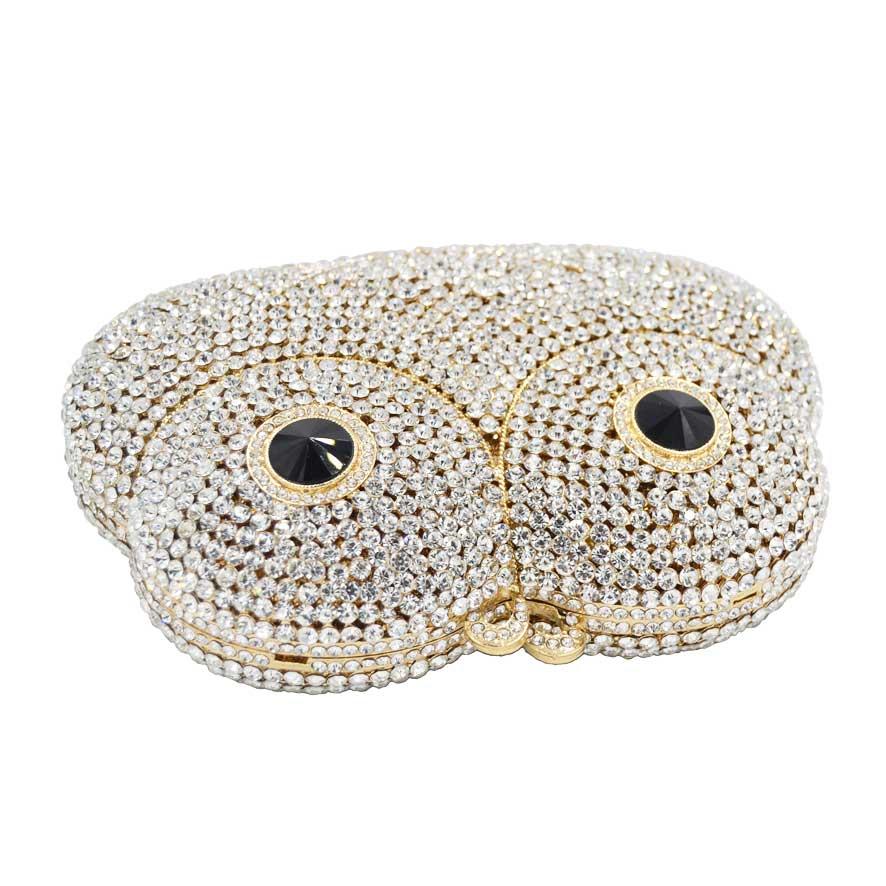 Mini Main À Cristal Sc618 Eye Gold Chaîne Femmes Soirée red Ours D'embrayage Animaux D'or De Bandoulière Silver En Mode gold Sac Sacs nYPT5x7