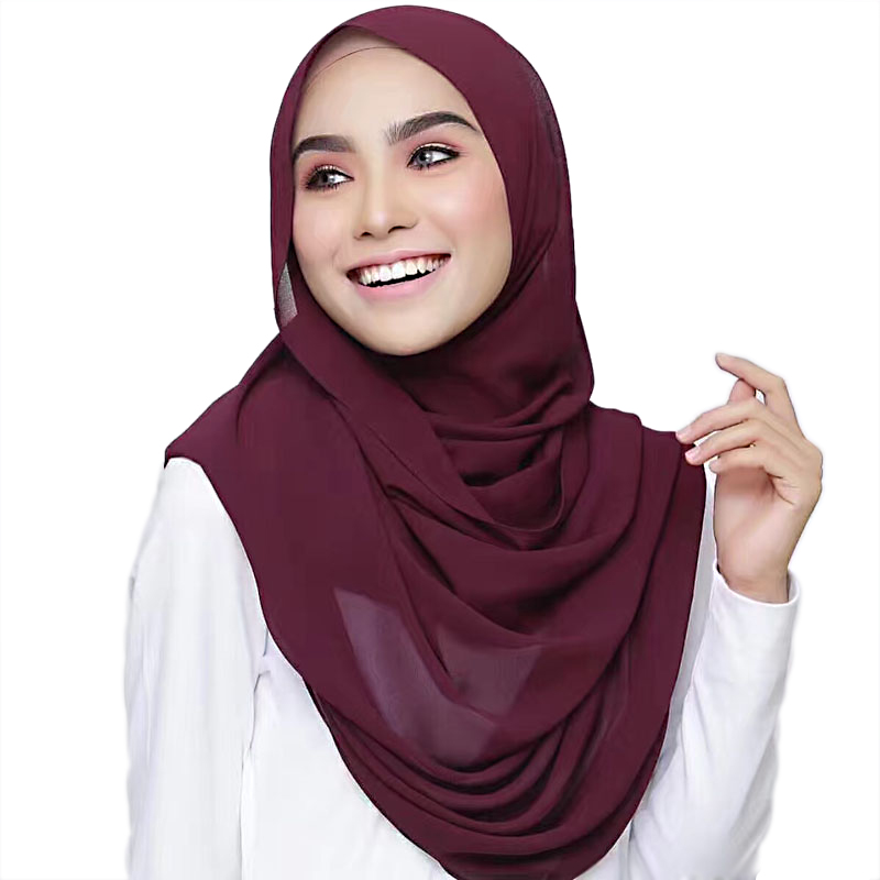 Ladies long head scarf georgette maxi long hijab shawl
