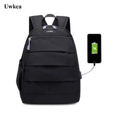 ФОТО uwkea 2018 oxford notebook laptop backpack men travel bag usb charge college teenage multifunctional rucksack