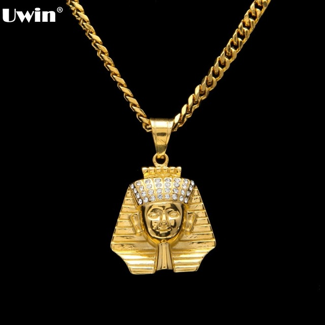Fashion gold color ancient egypt king tut pharaoh pendant necklace fashion gold color ancient egypt king tut pharaoh pendant necklace cuban chain stainless steel mens hip aloadofball Gallery