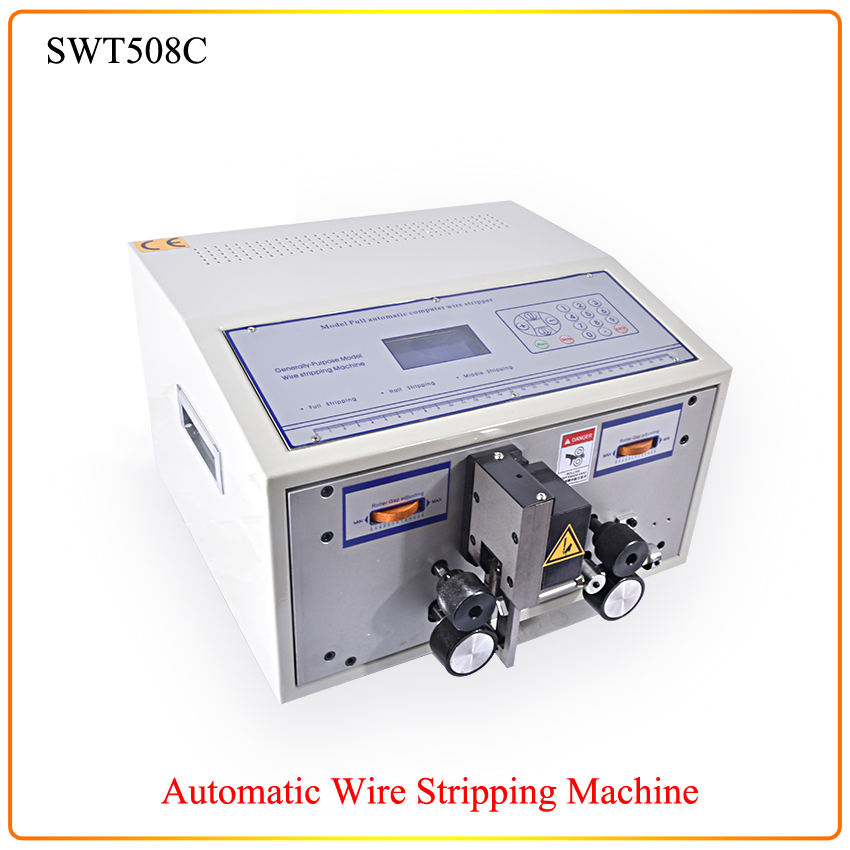 1pc Computer Automatic Wire Stripping Machine, Wire Cutting Machine, Wire Cutting & Stripping Machine SWT508C free shipping swt508c ii automatic wire stripping aachine model swt508d 110 220v two wheel drive