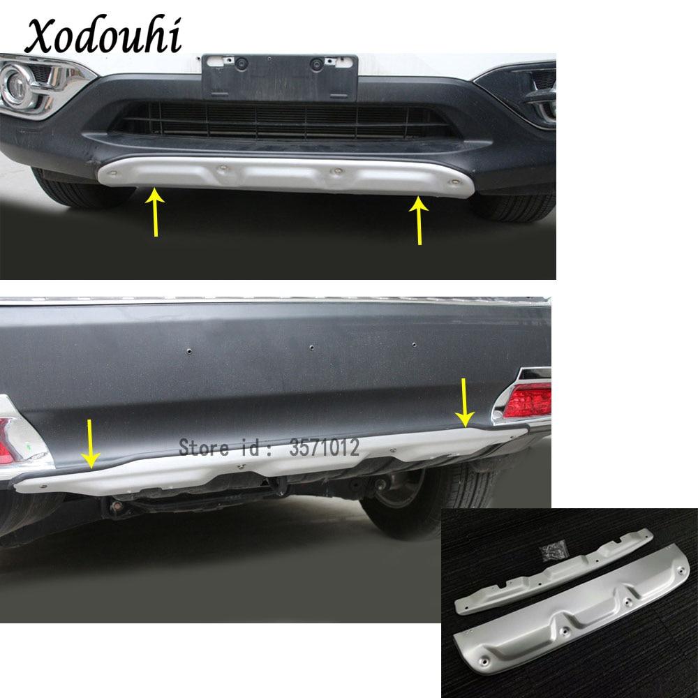 For Honda CRV CR-V 2012 2013 2014 car aluminum Front/Back rear Bumper tailgate pedal Strip trim plate lamp threshold 2pcs цена