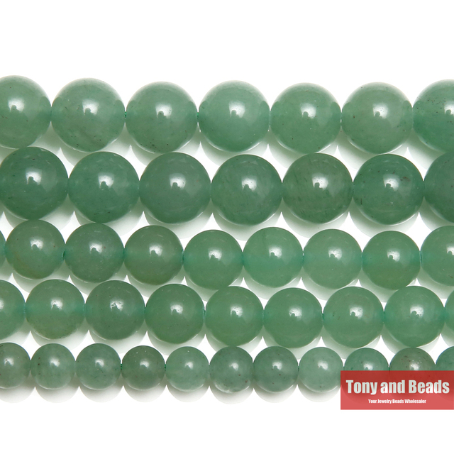 "Free Shipping Natural Stone Green Aventurine Round Loose Beads 15"" Strand 4 6 8"