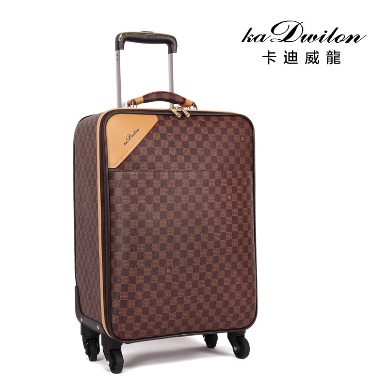 Fashion Leather PVC Luxury Men Women Rolling Luggage Suitcase Designer 22 Inches High Quality 4 Wheels Spinner Airport LuggageFashion Leather PVC Luxury Men Women Rolling Luggage Suitcase Designer 22 Inches High Quality 4 Wheels Spinner Airport Luggage