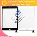 LL ТРЕЙДЕР Сенсорный Запасные Части Для iPad Mini 1 MINI 2 Сенсорный Экран Панелью Дигитайзер Переднее Стекло + Самостоятельного ремонта Клей Стикер