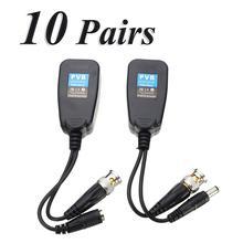 Лидер продаж, 10 пар в комплекте; CCTV коаксиальный кабель BNC видео Мощность балун трансивер для CAT5e/6 RJ45 разъем