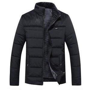 Image 4 - חורף מותג גברים מעיל פרווה הוד עם קשמיר בתוספת גודל 5XL חורף מעיל באיכות גבוהה אופנה גברים של מעיל מכירה לוהטת כותנה חליפה