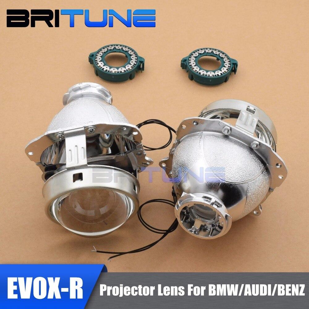 EVOX-R 2.0 Pour Hella 4 bi-xénon Objectif Du Projecteur Phare de Remplacement pour BMW E39 E60 E61/Ford S -Max/Audi A6 S6 A8 W211/Passat B6