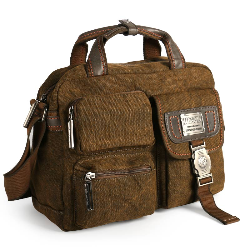 Ruil Multifunction Men s Retro Briefcase 2017 canvas bags Leisure Toolkit Package