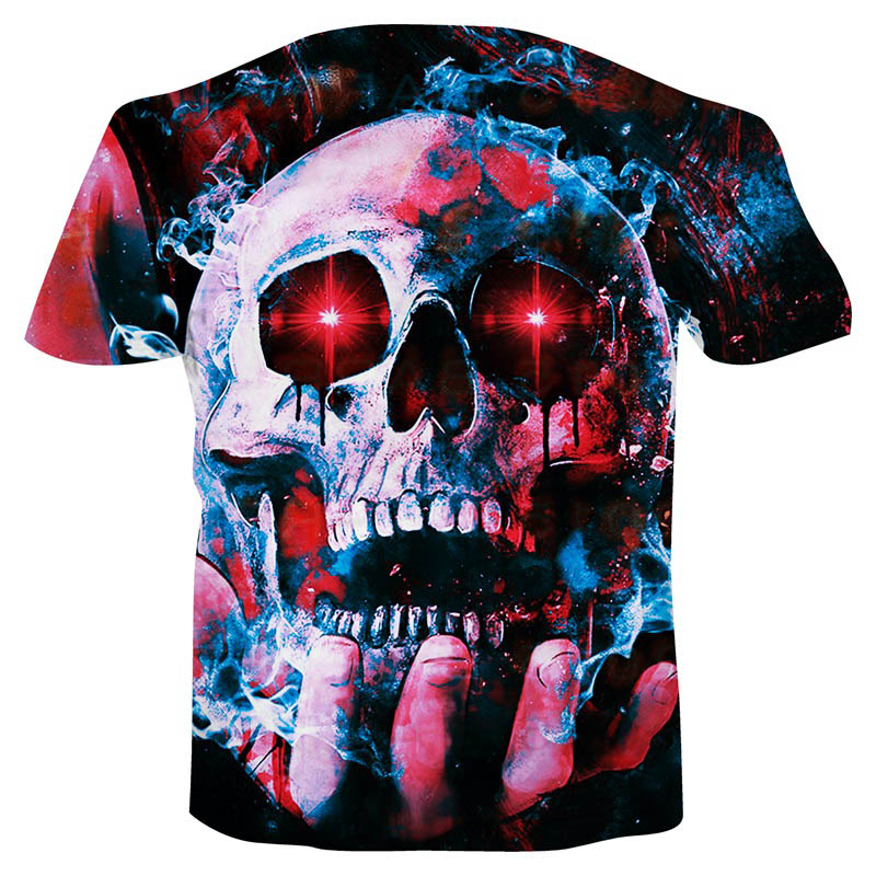 Summer NewFunny Skull 3d T Shirt Summer Hipster Short Sleeve Tee Tops Men Women Anime T Shirts Homme Short Sleeve Tops 2019 in T Shirts from Men 39 s Clothing