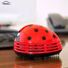 ONEWELL 3 Color  Beetle Shaped Portable Corner Desk Table Top Vacuum Cleaner Mini Cute Vacuum  Cleaner Car Styling
