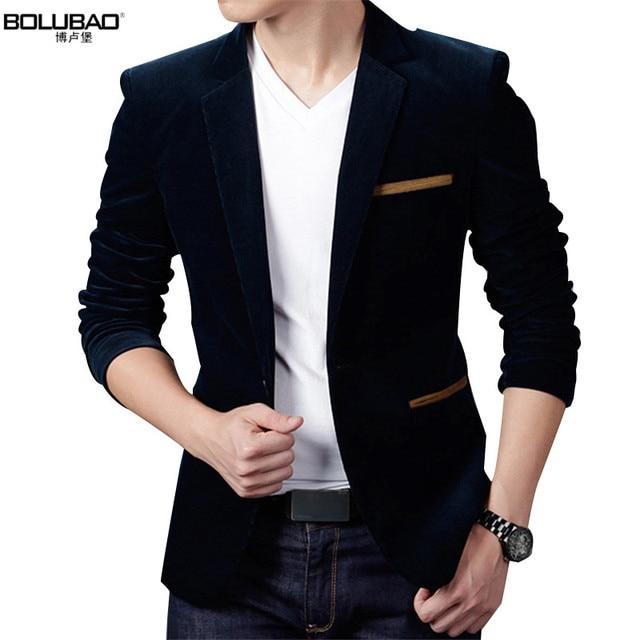 2017 Venta caliente marca ropa hombres Blazer moda algodón