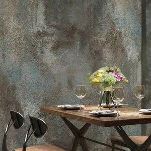 Image 2 - PVC วอลล์เปเปอร์ 3D Retro Cement สีเทาร้านอาหาร Cafe ห้องนั่งเล่นกันน้ำธรรมดาสี VINTAGE Papel De Parede Decor
