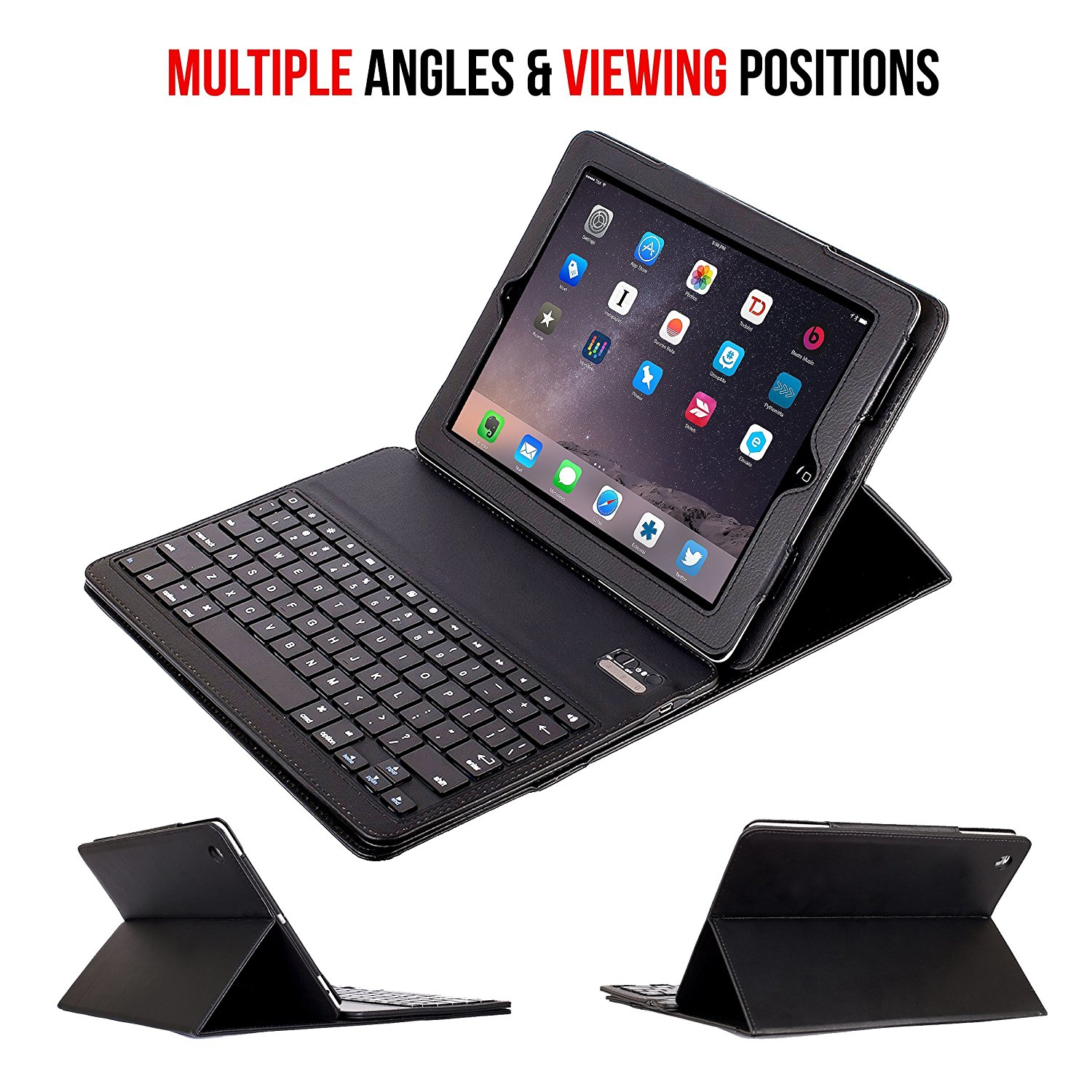 23026d250d9 Wireless Bluetooth Keyboard Case for iPad 2 iPad 3 iPad 4 Removable Folio  Case Stand Leather Cover for Apple iPad 2 3 4-in Tablets & e-Books Case  from ...