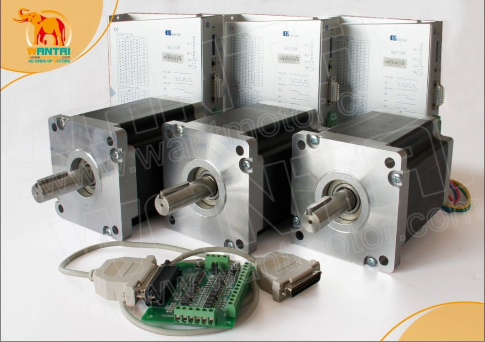 High Quality 4 Axis Nema 42 Wantai Stepper Motor 4200oz-in, 8A CNC Engraving, Cutting & 220VDC Driver Mill Control high 3 pcs nema 17 stepper motor 70oz in 2 5a cnc cutting