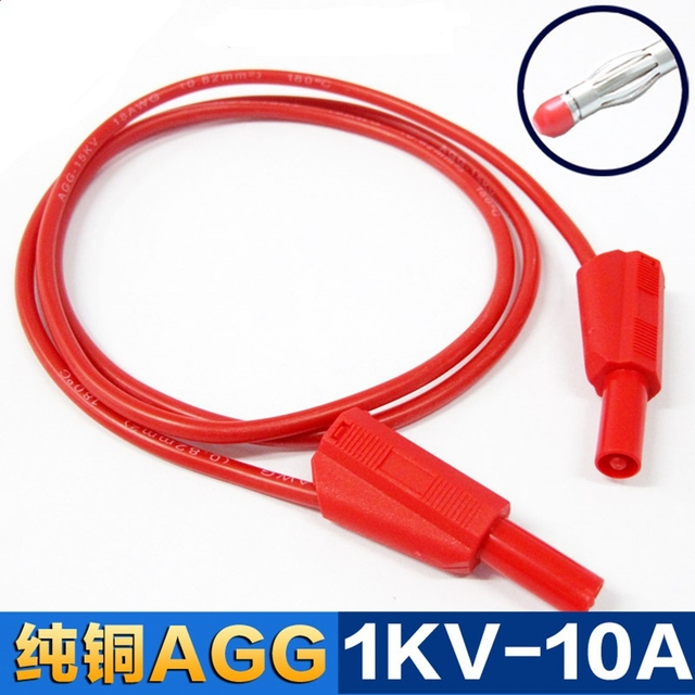 0.25 meter High Quality silicone test leads 4mm test lead Safety ...