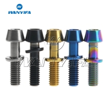 Wanyifa Titanium Ti Bolt M4x15.3mm Allen Hex Taper Screws Bolts with Washers for Ritchey C260 Bicycle Stem