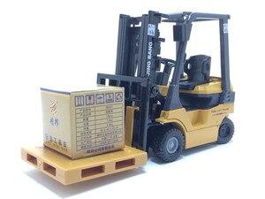 Image 4 - 1:60 échelle alliage modèle voiture alliage ingénierie véhicules ascenseur chariot élévateur boîte cadeau simulation chariot élévateur enfants jouets livraison gratuite