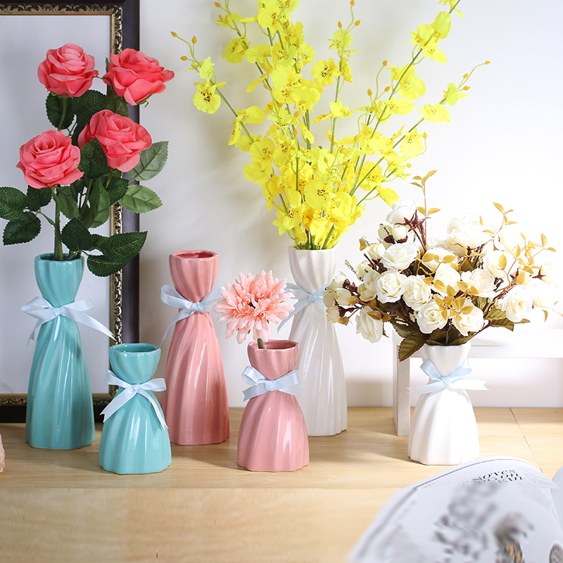 Fresh Mini Ceramic Small Vase Home Decor Gift Ideas And: New Ceramic Flower Vase Furnishing Articles Home