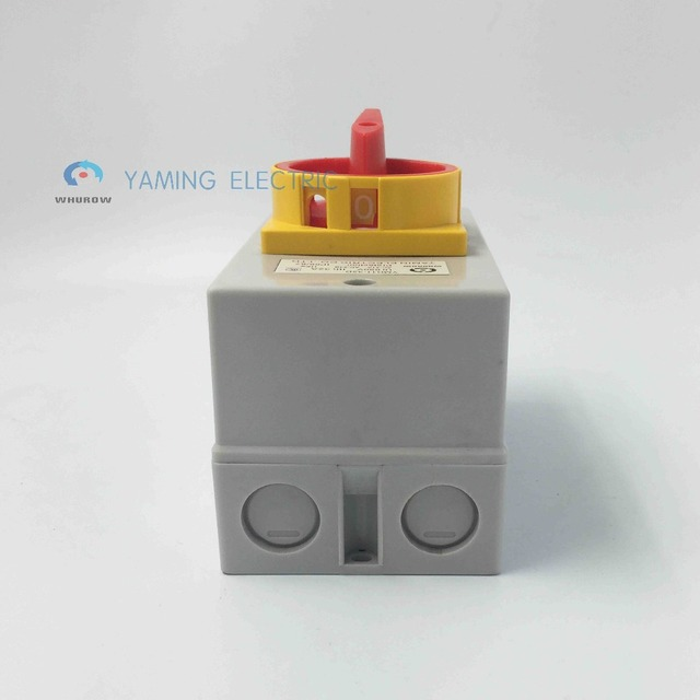 Yaming electric Main disconnect switch waterproof rotary encoder switch 32A 4 Poles on-off YMD11-32D/4P isolator switch