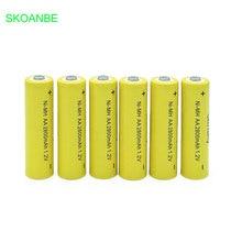 10PCS A lot AA Rechargeable Battery AA Ni-MH 1.2V 2800mAh Ni-MH 2A Pre-charged Bateria Rechargeable Batteries for Camera цена