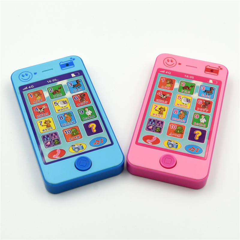 Russian Language Baby Phone The Latest Version Of 4G Phone Children's Educational Simulation Music Mobile Phone Free Shipping