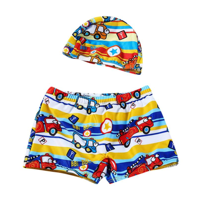 Baby Boys Swimwear 6Color Trunks Cartoon Print Infant Swimsuit Toddler Kids Bathing Clothes for Summer Party Beach 18Apr9
