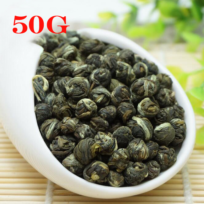 50g Jasmine Pearl Tea, Fragrance Green Tea, Gunpowder Tea Organic King Grade Top Handmade Pearl Jasmine Green Tea Free Shipping 1000g jasmine pearl tea fragrance green tea free shipping