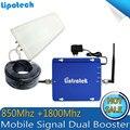 Дб 20dBm DCS 1800 мГц Усилитель Сигнала CDMA 850 МГц Сигнал Повторителя/Мобильный Сигнал двухдиапазонный 3 Г Усилитель антенна Полный набор