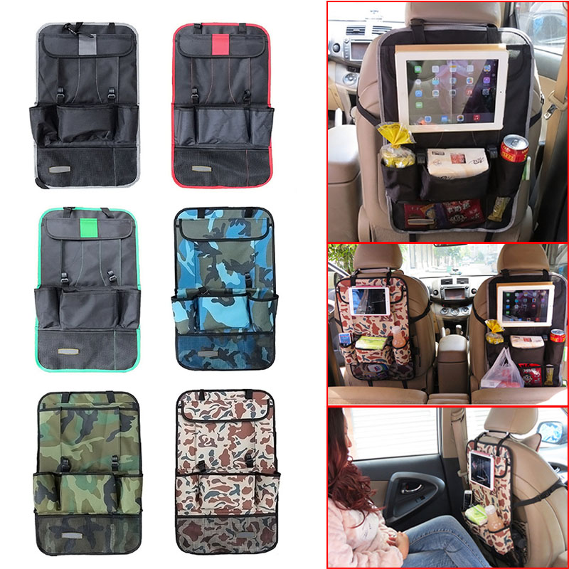 new car styling back car seat cover auto car seat back organizer holder multi pocket travel. Black Bedroom Furniture Sets. Home Design Ideas