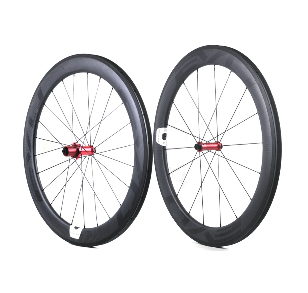 700C 60mm depth road bike carbon wheels 25mm width Tubular clincher bicycle carbon wheelset 3K twill