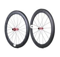 700C 60mm Depth Road Bike Carbon Wheel 25mm Width Tubular Road Bicycle Carbon Wheelset 3K Twill