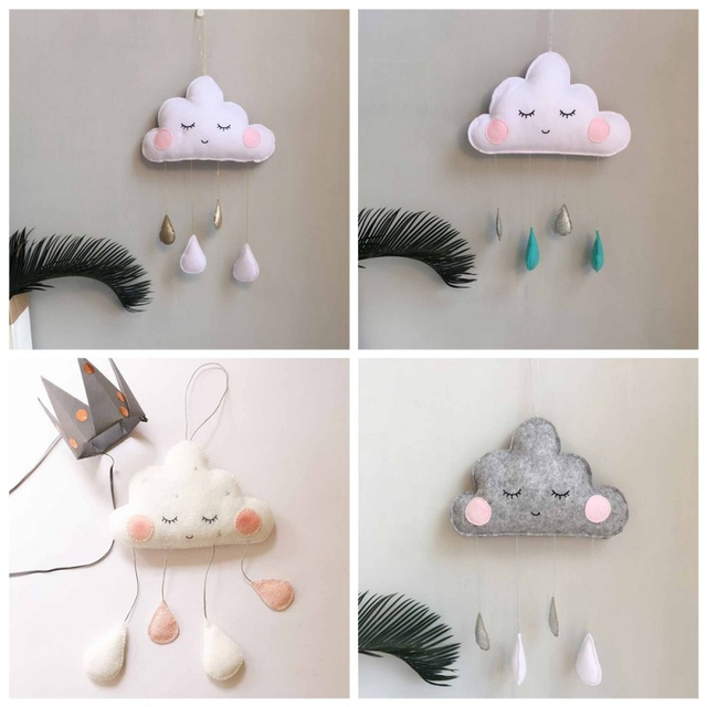 Cloud Raindrops Wall Decorations For Baby Room