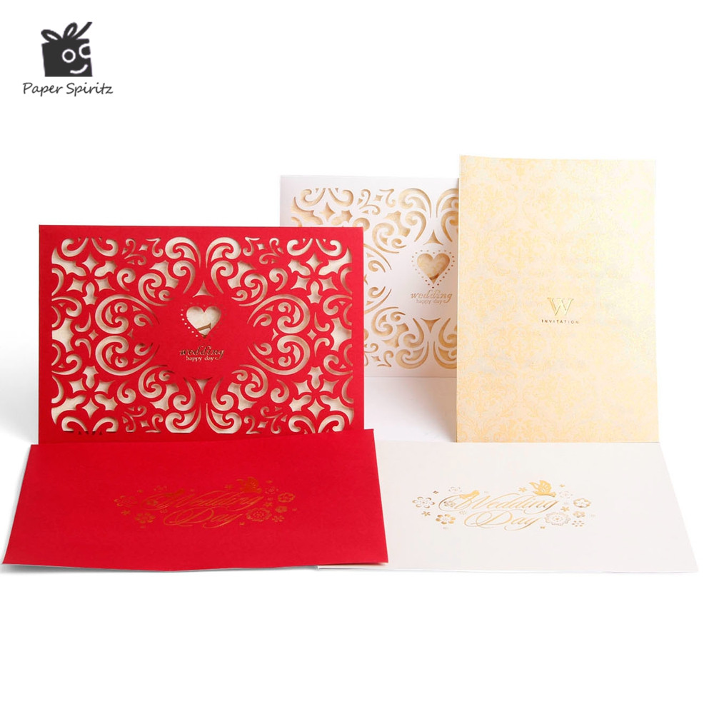 Wedding Invitation Cards Laser Cut 3d Anniversary Lace Custom Pocket ...