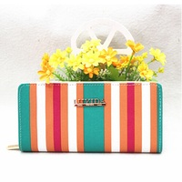 2014 The New Fashion Women S Wallet British Wind Stripe Women Handbag Women Wallets Free Shipping