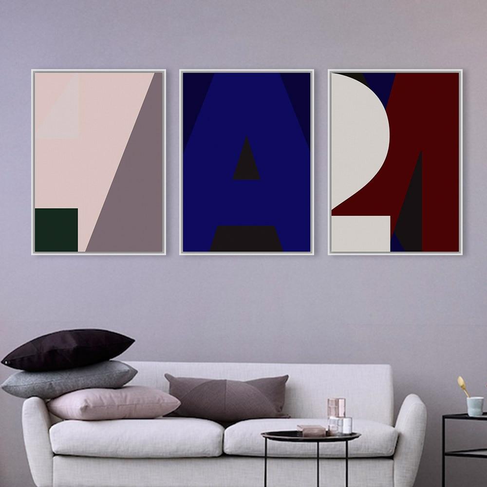 Color art tipografia - Carta De Amor De La Lona Abstracta Minimalista N Rdico Moderno A4 Grande Art Print Poster Pintura