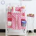 Cuna Colgar Bolsas de pañales organizador dot print cuna Cunas bolsillo De Almacenamiento Organizador Hanger BabyNappy Bolsillos Bebés Reciben