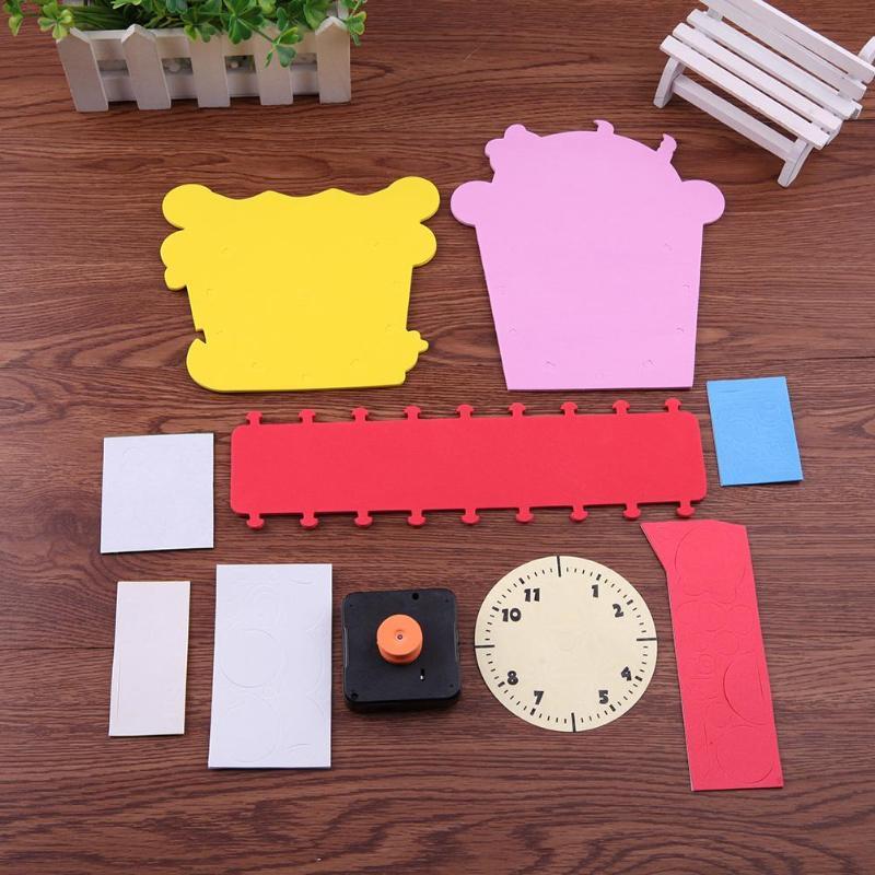 Puzzles Creative Handmade Manual Clock Tube Set Children Diy Eva Foam 12 Styles Clocks Kids Blocks Toy Educational Gifts Nourishing The Kidneys Relieving Rheumatism Puzzles & Games
