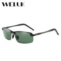 WELUK Polarized Outdoor Driving Sunglasses Men Rimless Luxury Brand Designer Aluminium Magnesium Oculos Fashion Eye Glasses