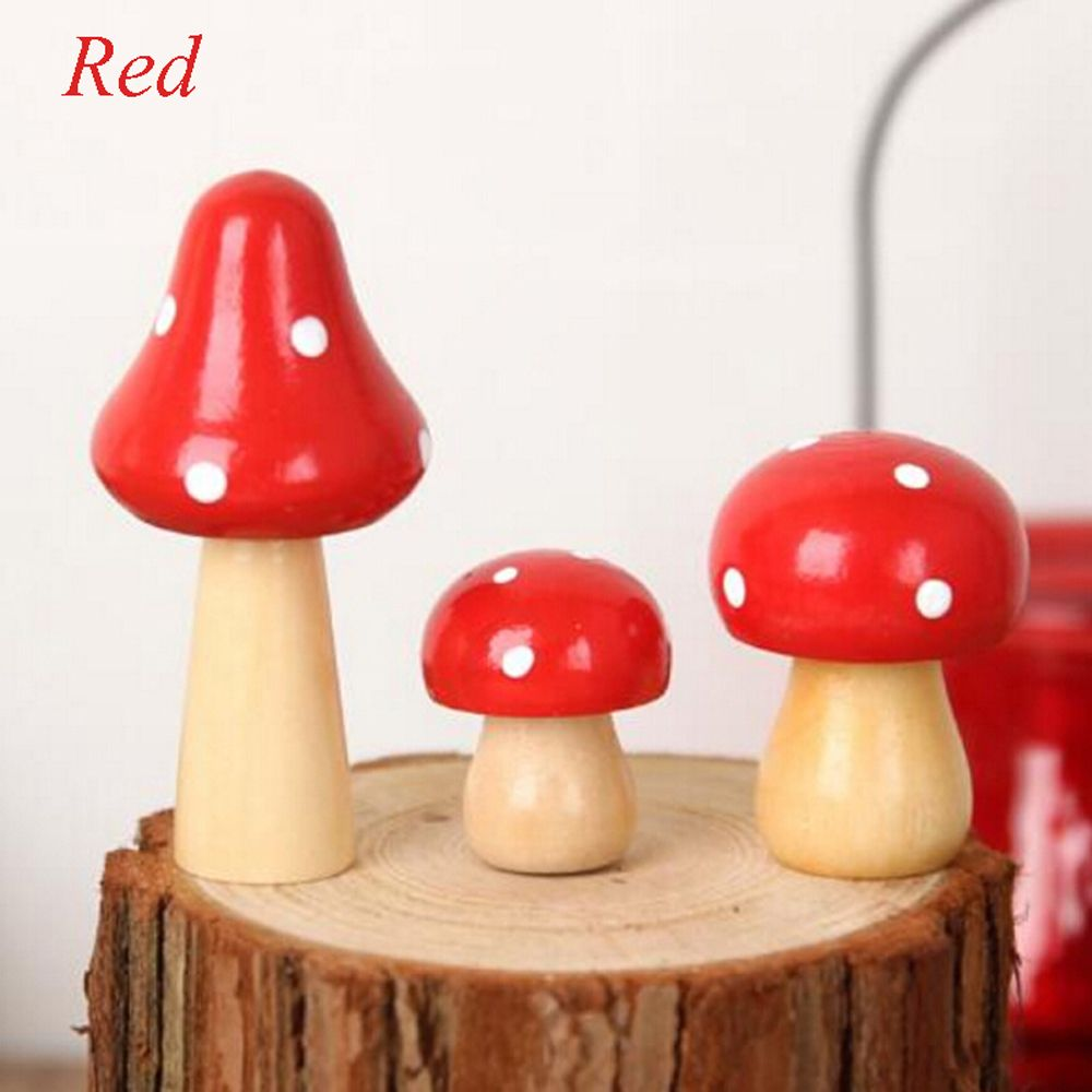 High Quality 3 Pcs/Set Brand New Wood Mushrooms Miniature Fairy Garden Home Decoration  Craft Micro Landscape Decor DIY Gift Moving Forest In Figurines U0026  Miniatures From ...