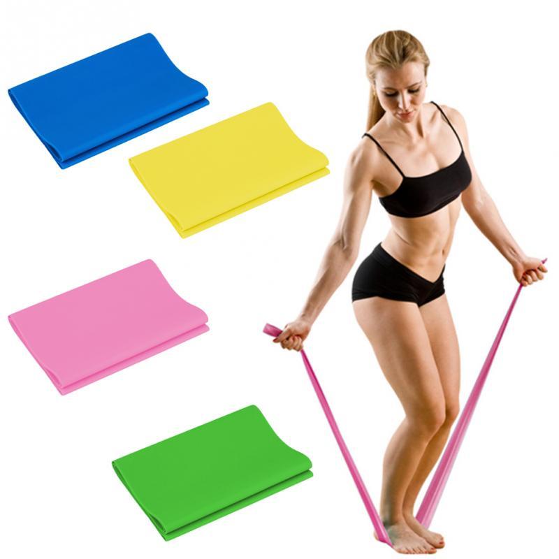 High Elasticity Yoga Tension Band Latex Slimming Strap 120CM font b Fitness b font Pull Band