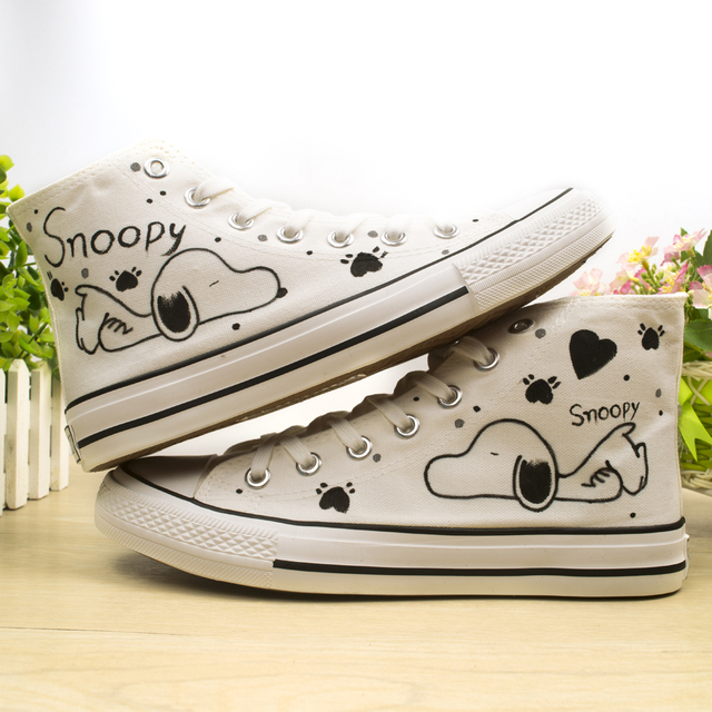 373ce1d543 puppy cartoon kids sneakers high top canvas casual shoes children hand  paited boys girls shoes