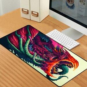 Image 3 - Sovawin 80x30cm XL Lockedge grand tapis de souris de jeu ordinateur Gamer CS GO clavier tapis de souris Hyper bête bureau tapis de souris pour PC