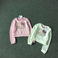 Free Shipping 8 Pieces/lot 4-12T Girl  Hello kitty Knit Jacket Long sleeve Sweater 3 Colors