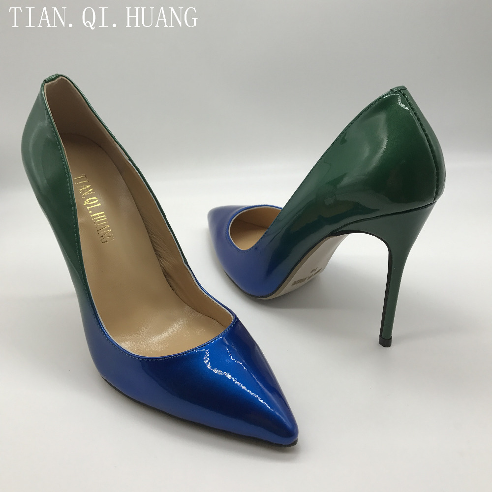 Fashion Design Women Shoes Pumps Sexy Fashion Pointed Toe High Heels Casual Patent leather Style Shoes Woman TIAN.QI.HUANG 1