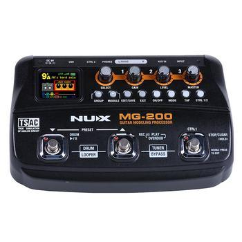 נוקס MG-200 גיטרה מעבד רב גיטרה אפקט דוושת 55 אפקטים 70 שניות הקלטת גיטרה Looper תוף מכונת (איחוד אירופי תקע)