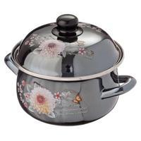 POT DAHLIA BLACK Mother Of PEARL Kitchen Bar Utensils Pan Plate Mug Frying Cooking Stainless Steel